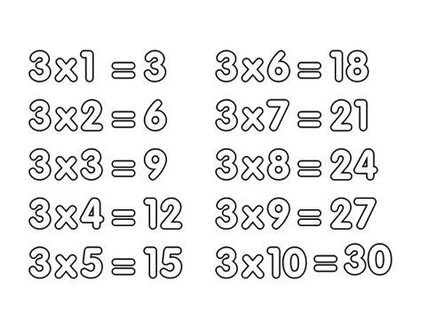 la table de multiplication de 3 coloriage de la table de multiplication du 3 pour colorier coloritou