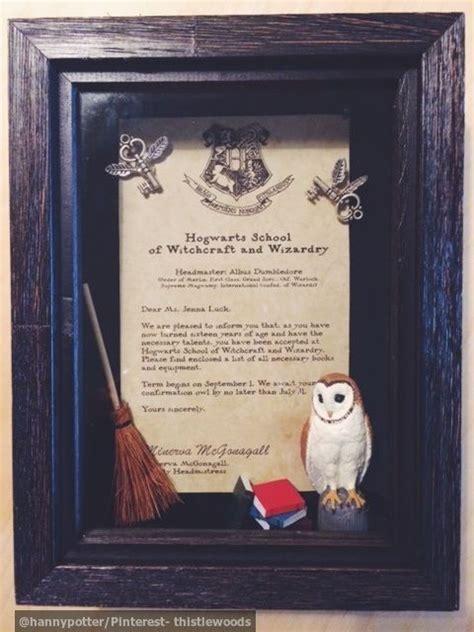 diy harry potter gift shadow box hogwarts letter