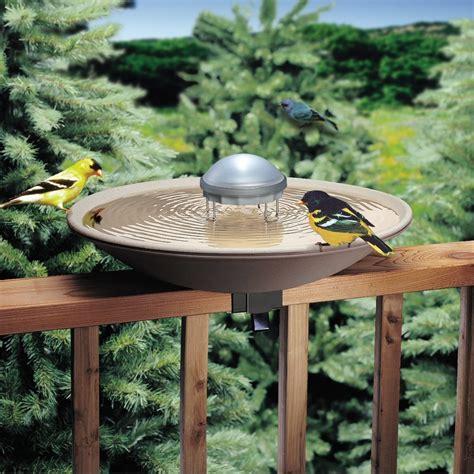 bird bath solar water heated wiggler mommashomestore birds garten gnome braideasy xyz