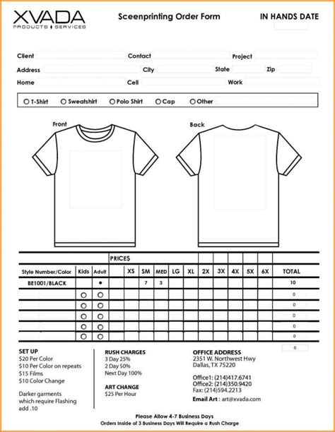 22078 t shirt order forms t shirt order form beneficialholdings info
