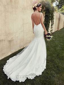 beading straps sweetheart fit and flare lace wedding With low back wedding dresses pinterest