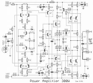 Electro Circuit  Schema  U0026 Datasheet  High Power Amplifier 300w