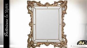 Miroir Baroque Doré : tr s grand miroir dor parcloses de style baroque 189 cm int rieurs styles ~ Teatrodelosmanantiales.com Idées de Décoration
