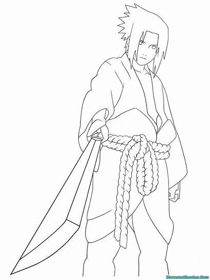 Sasuke Mewarnai Gambar Coloring Uchiha Printable Buku