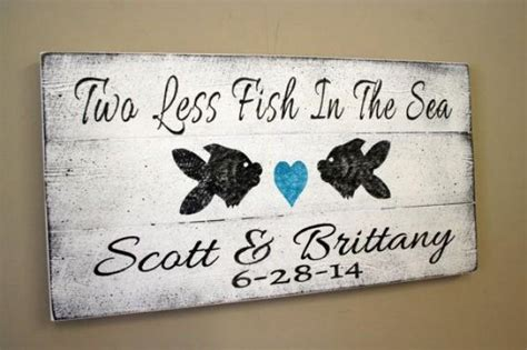 beach wedding sign pallet sign   fish   sea