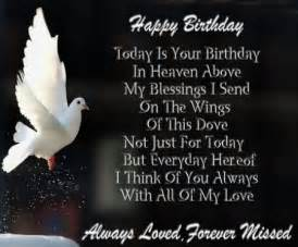 happy birthday in heaven quotes poems pictures from b day wishes for in