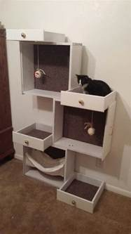 easy diy cat tree build a unique and inexpensive cat tree using drawers