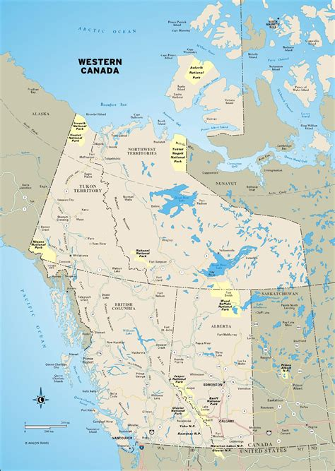 color map  western canada alberta british columbia
