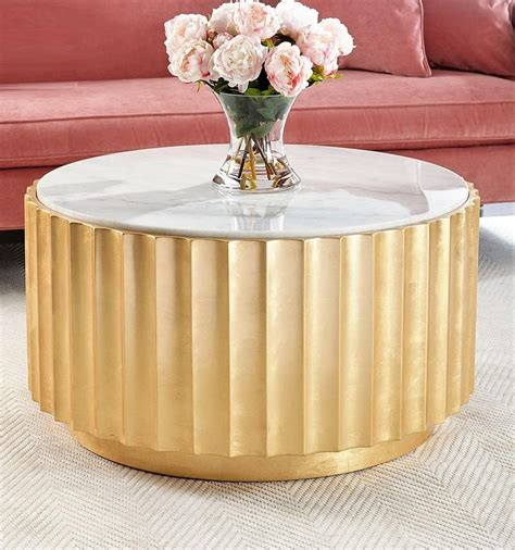 Get the best deals on white modern coffee tables. Gold Leaf Contemporary Round Coffee Table with White Marble Top For Sale at 1stdibs