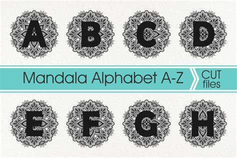 This was a really fun project, i really enjoyed making this for my. Mandala Alphabet Svg, Mandala Letter Svg, Zentangle ...