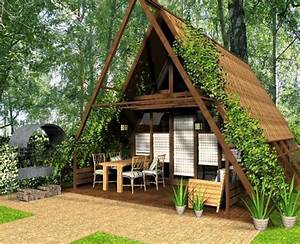 Cute small house designs with gable roofs and triangular a for A frame house decorating ideas