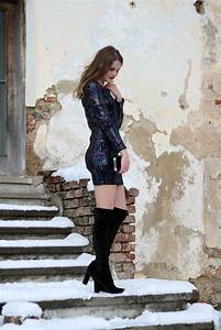 Perfektes Silvester Outfit : 4 styles 4u silvester outfit paillettenkleid und overknees fashionladyloves mode blog ~ Frokenaadalensverden.com Haus und Dekorationen