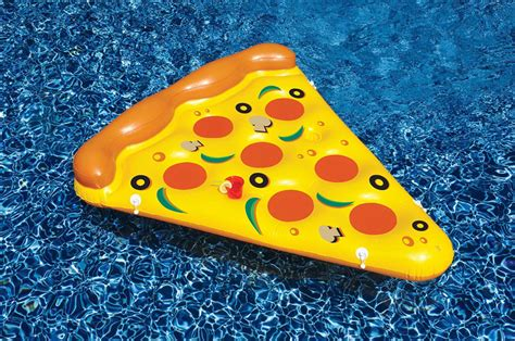 pizza pool float delivers  summer fun foodiggity