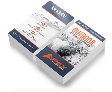 hunting business card design outdoor advertising  design agency custom hunting graphics