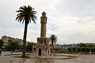 The Clock Tower in central Izmir. | Ferry building san ...