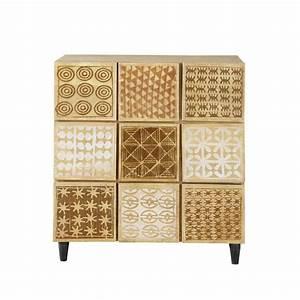Cabinet de rangement en manguier massif l 86 cm serengeti for Wonderful meuble en manguier massif 13 meuble de rangement petits meubles de rangement