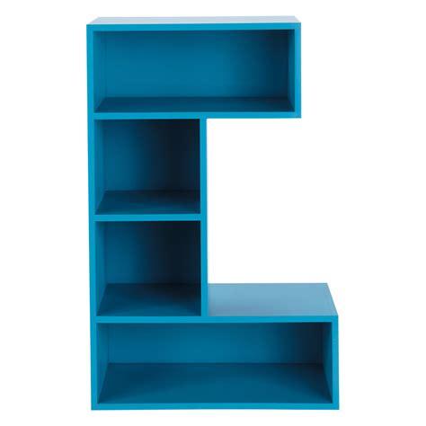 meuble de rangement chambre garcon bibliothèque en bois bleue l 70 cm c maisons du monde