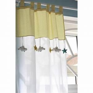 Rideau Jaune Et Blanc : rideau passants en coton blanc jaune 110 x 250 cm pinterest coton blanc coton et jaune ~ Teatrodelosmanantiales.com Idées de Décoration