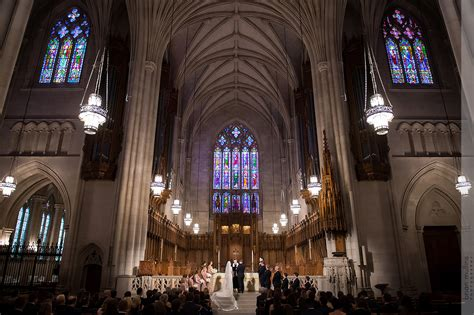 elegant wedding ceremony  duke chapel southern bride