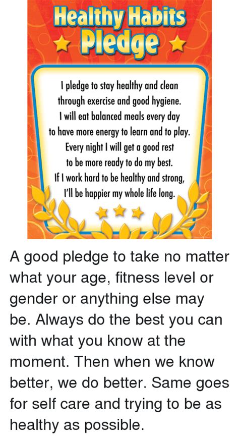 healthy habits pledge  pledge  stay healthy  clean