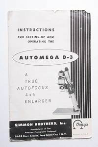 Automega D3 Enlarger Instruction Owners U0026 39  Set
