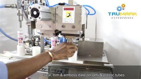 semi automatic tube filling sealing machine tube filler sealer youtube
