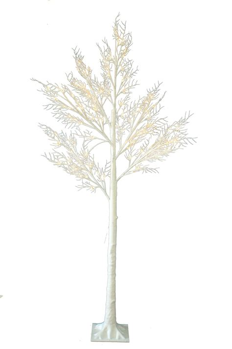 7ft christmas twig tree pre lit 120 led warm white lights