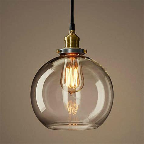 loft copper cap glass pendant lighting contemporary