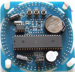 Banggood  Diy Ds1302 Rotation Led Kit Horloge  U00e9lectronique