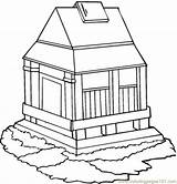Monastery Coloring Pages Buildings Designlooter Coloringpages101 Template sketch template