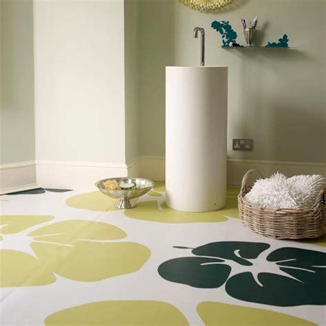 patterned vinyl modern bathroom flooring ideas