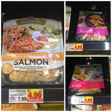 ea cuisine sea cuisine frozen items only 3 99 at kroger reg price