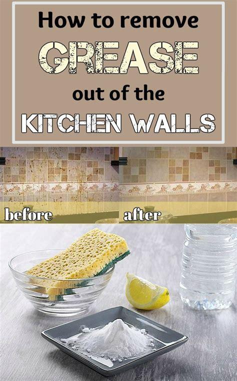 remove grease    kitchen walls