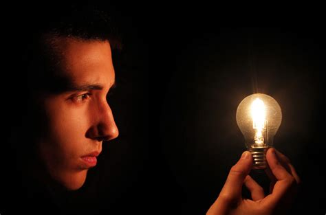 photography light bulbs creating a photo of a light bulb powered by the mind