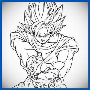 dibujos de dragon ball z para colorear goku fase 4 ...