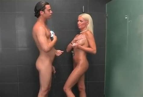 Nude Mixed Gender Shower