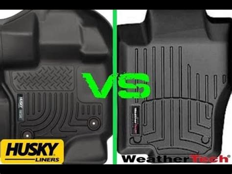 weathertech floor mats vs weathertech vs husky liner floor mats youtube