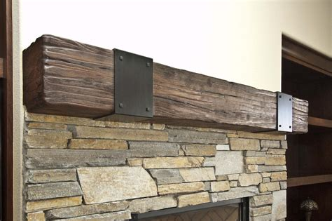rustic walnut mantel unique design cabinet