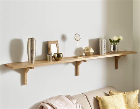 Oak Wall Shelf Brackets Solid 35mm Modern Design