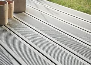 Lame De Bois Pour Terrasse : lame de terrasse en bois composite teinte gris iroise profil lisse rainur ou structur la ~ Melissatoandfro.com Idées de Décoration