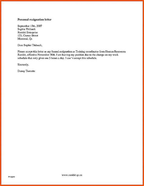 exle of letter of resignation exle of letter of resignation images letter format 12662