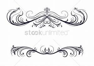 Vintage header and border design Vector Image - 1506933 ...