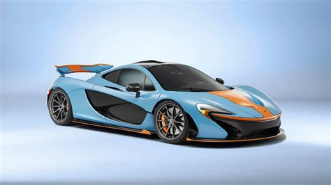 gulf racing colors businessman orders mclaren p1 in gulf oil racing colors