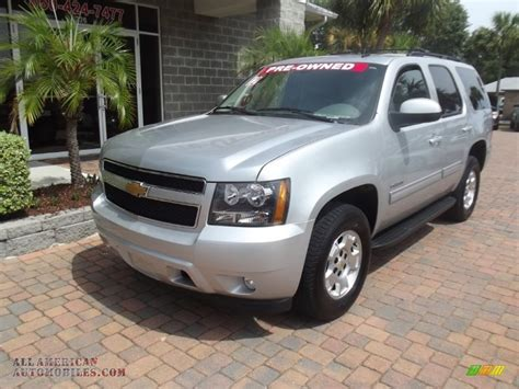 silver tahoe 2012 chevrolet tahoe lt in silver ice metallic 136495 all american automobiles buy