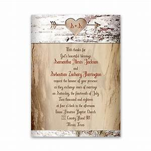 aged birch petite wedding invitation rustic invites at With country house wedding invitations