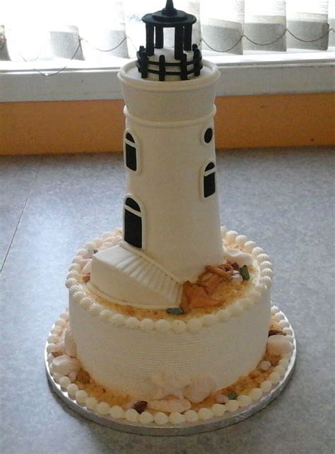 lighthouse theme wedding cakecentralcom