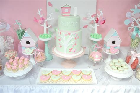 Pink & Mint Bird Themed Party