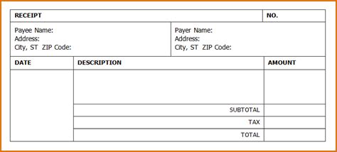invoice receipt template 7 invoice receipt template authorizationletters org