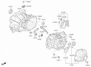 2016 Kia Rio Transaxle Case-manual