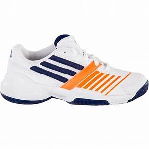 Adidas Galaxy Elite 3 Tennis Junior Shoe White/blue/orange